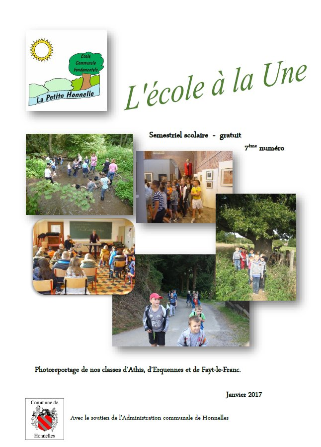 EcoleALaUne Janvier2017