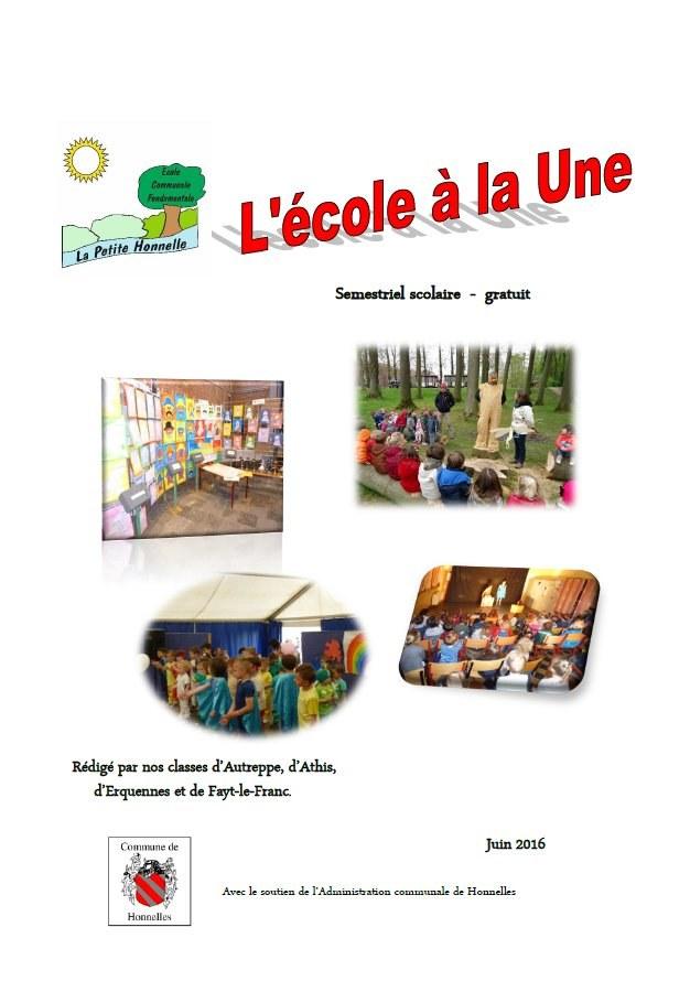 EcoleALaUne Juin2016